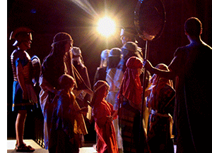 Children from Glenview Community Church perform the Christmas Pageant.